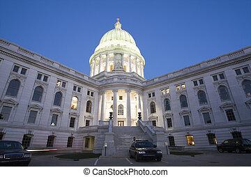 前部, 自動車, 州, 警察, 国会議事堂