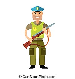 Vector Police. Policeman. Flat style colorful Cartoon...