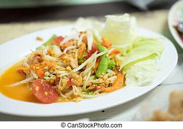 Thai papaya salad, Som Tum from Thailand