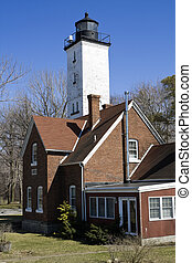 Lighthouse in Erie - Lighthouse in Erie - Eastern...