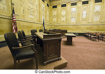 Court Room in Madison, Wisconsin.
