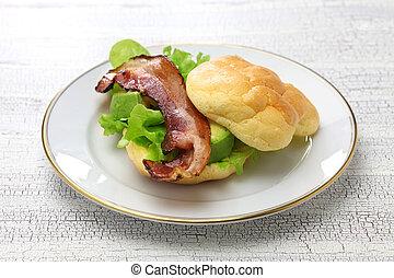 cloud bread ( no carb bread ) sandwich - cloud bread is no...