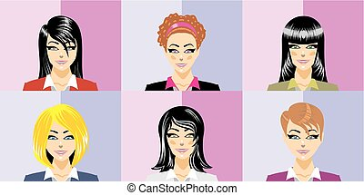 Beautiful secretariats with different hairstyles