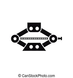 Red scissor car jack icon, simple style - icon in simple...