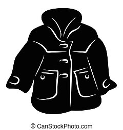 Women coat icon, simple style