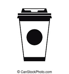 Paper coffee cup icon, simple style - icon in simple style...