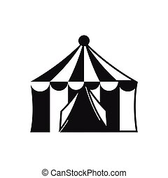 Circus tent icon, simple style - icon in simple style on a...