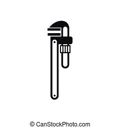 Pipe or monkey wrench icon, simple style - icon in simple...