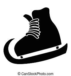 The skates icon, simple style