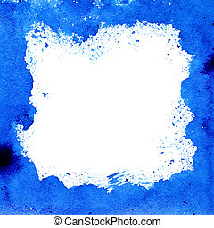 Blue frame - Blue square frame with white space for your own...