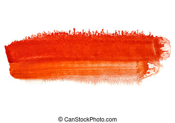 Red brush stroke - abstract watercolor background - space...