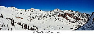 Panoramic Bird - A panoramic capture of Snowbird Ski Resort...