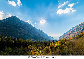 Little Cottonwood Canyon - A view of the Salt Lake Valley...