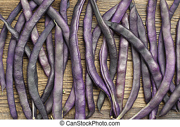 Purple string beans - Background with purple string beans