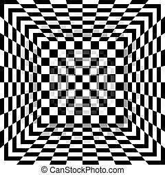 Black and white chessboard pattern box Vector abstract...