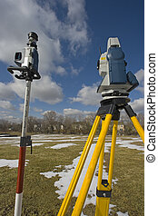 Surveying during winter time