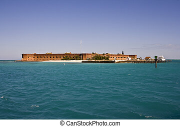 Arriving to Fort Jefferson - The walls of Fort Jefferson are...