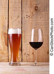 Beer versus wine