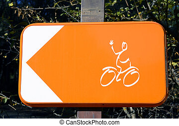 Sign for cyclists to turn around