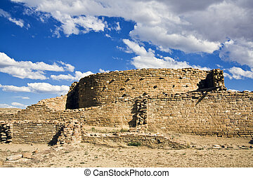 Ruins in Chaco Culture National Monument