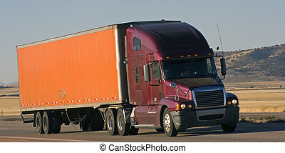Semi-truck - Colorful semi-truck in the west of USA