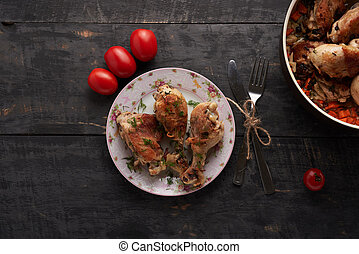 pieces of fried chicken on a plate