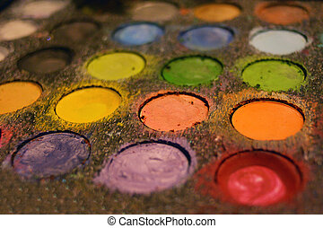 Make-up face painting artist colors kit with brush Artwork...