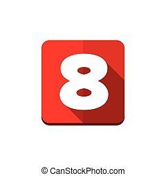 Number eight vector button