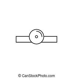 Ent icon illustration - Ent medicine icon simple vector...
