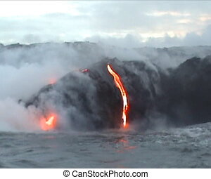 Volcano Lava flow - Kilauea Volcano in Big Island, Hawaii,...