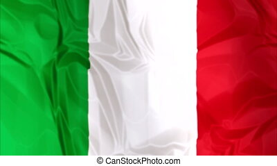 Flag of Italy waving - Waving flag of Italy, green white and...