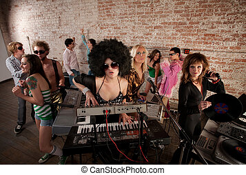 1970s Disco Music Party
