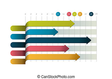 Flat chart, graph. Simply color editable. Infographics...