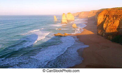 Twelve Apostles sunset in Port Campbell National Park. Great...