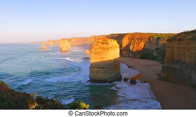 Twelve Apostles sunset - The rock stacks that comprise the...