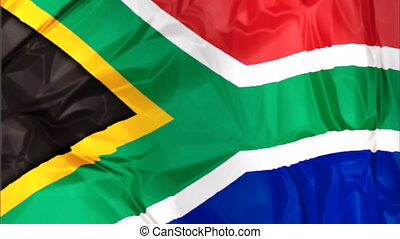 Flag of South Africa - Waving flag of South Africa , blue...