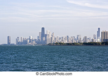 Chicago seen from the north - Chicago, IL seen from the...