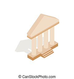 Theatre building icon, isometric 3d style - icon in...