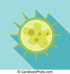 Virus icon in flat style - icon in flat style on a light...