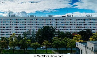 Multi-storey residential buildings timelapse - Multi-storey...