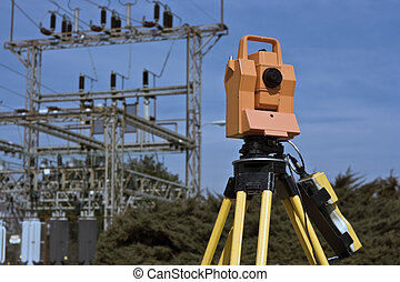Surveying under electric wires