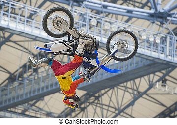 FMX Freestyle Motocross - Rider at the FMX - Freestyle...
