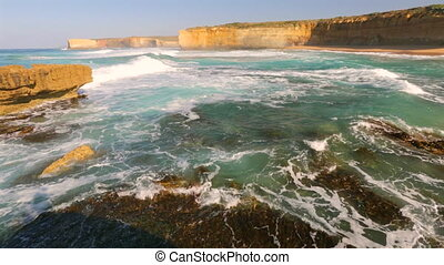 Loch Ard Gorge Victoria - Rough seas in Victoria Australia....