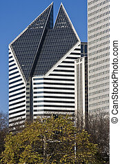 Building on Michigan Avenue in Chicago - Office Building on...