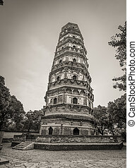 Leaning Tower of China - Tiger Hill Pagoda (Yunyan Pagoda)...