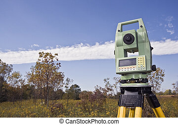 Fall time surveying - Fall time land surveying - total...