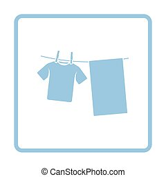 Drying linen icon