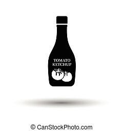Tomato ketchup icon White background with shadow design...