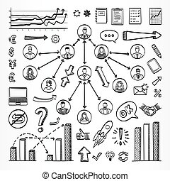 Sketch doodle set of icons - Sketch doodle set. Vector hand...