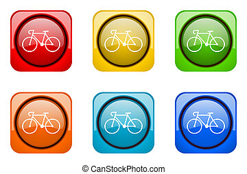 bicycle colorful web icons